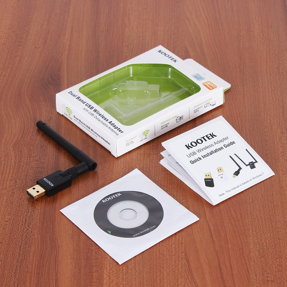 Kootek 600Mbps USB Wifi Adapter 802 11ac Wireless Wifi Dongle with