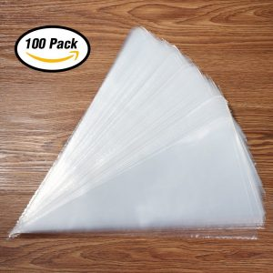 Kootek 100 Pieces Thick Pastry Bags 16-Inch Disposable Icing Decorating Bags Cake Piping Bags for all Sized Tips Kit and Couplers, Baking Cupcakes Cookies Candy Supplies Tools for Beginners Kids