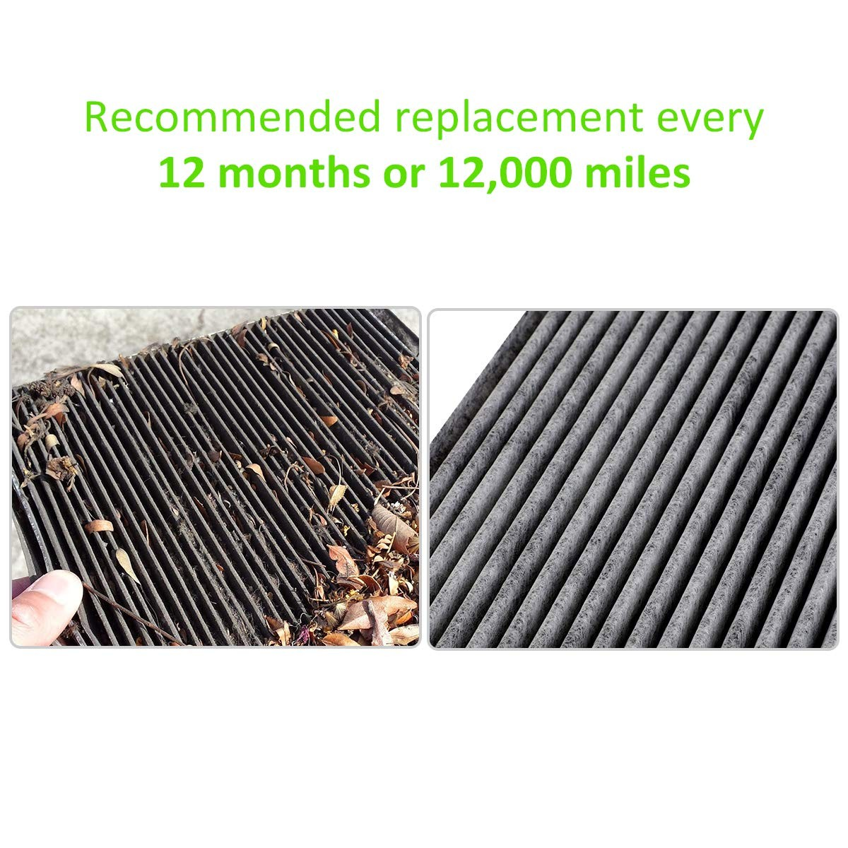 2 Pack Cabin Air Filter for Honda Accord,Odyssey,Civic,CR-V,Pilot,Acura,Replace 80292-t0g-a01 2 Pack