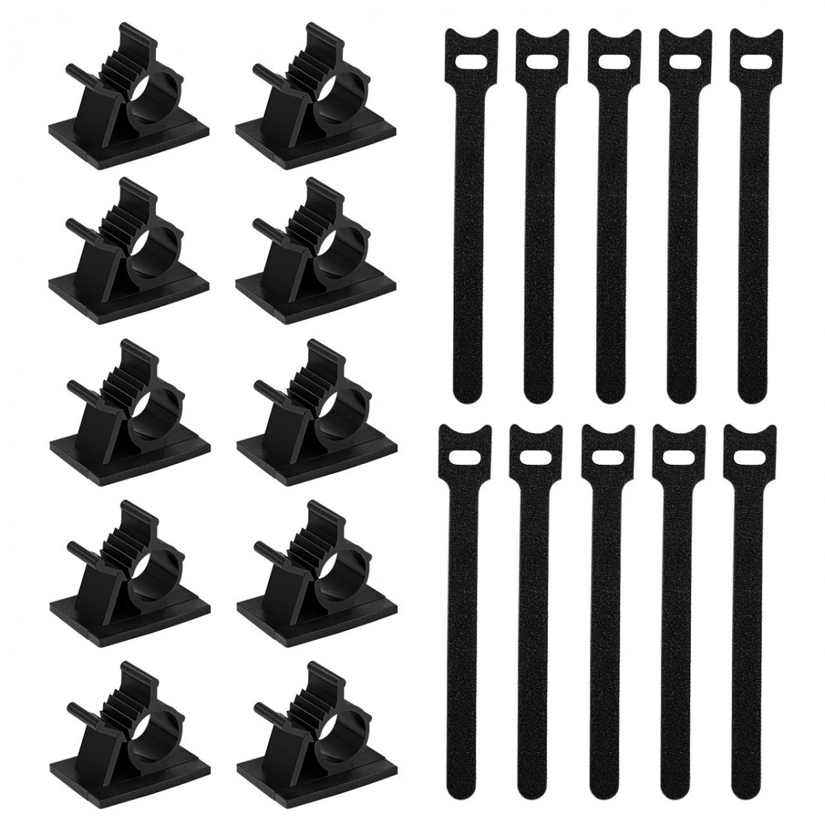 172867f7f2ed Kootek 60+30 Pcs Cable Management Kits, 60 Pcs Reusable Fastening Cable Ties,  30 Pcs Adhesive Cable Clips, Flexible Wire Organizer Cord Holder Wrap  Straps ...