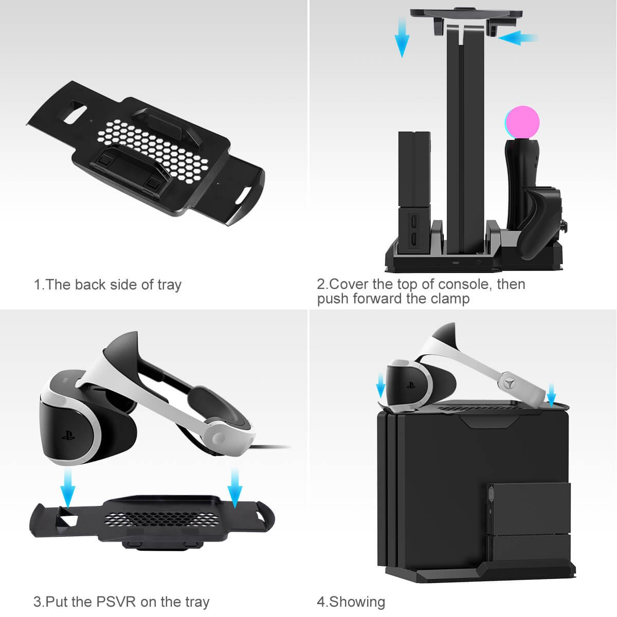 Kootek Charging Stand With Cooling Fan For Playstation Vr Move Motion Controllers Fit For Ps4 Slim Pro Regular Ps4 Console With Dualshock 4 Wireless Controller Ext Port Charger Cuh Zvr2 1 Kootek Official