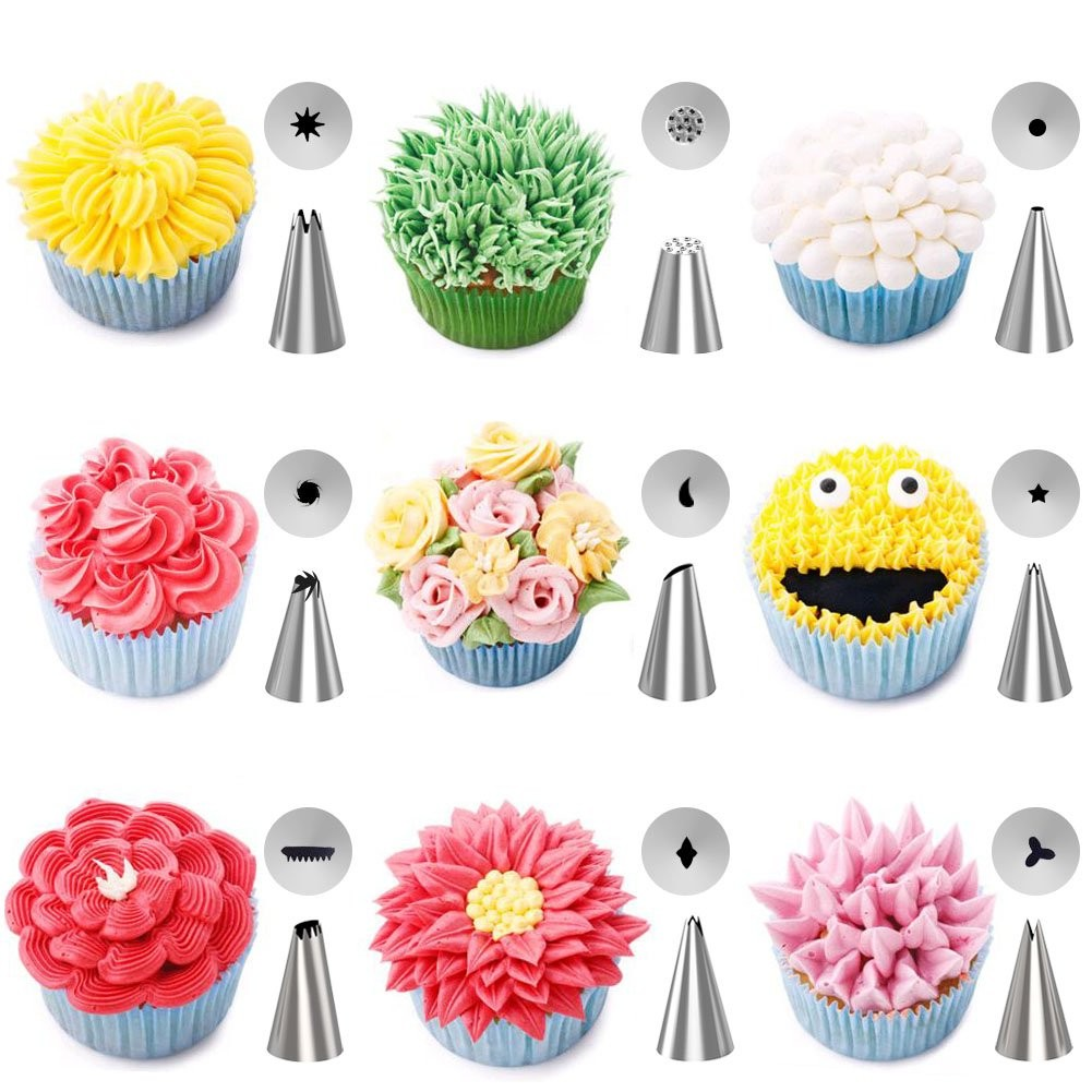 Cake Decorating Piping Tips Regular Square Stainless Steel Icing Nozzles Baking