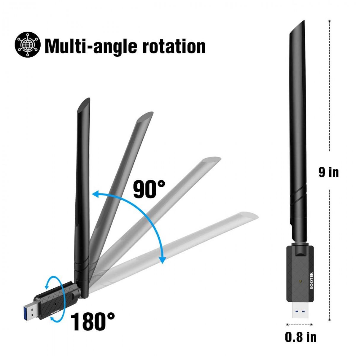 Kootek 1200Mbps USB WiFi Adapter, USB 3 0 Wireless Dongle